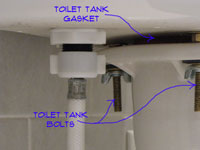 Leak in toilet tank