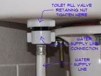 Tightening A Toilet Fill Valve