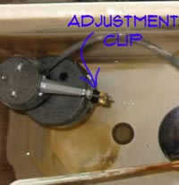 Adjustment Clip on Fluidmaster Toilet Float