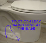 Fix toilet lick at base wieder