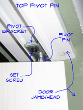 Adjusting Bifold Hardware - Top Pivot Pic1
