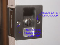 Pocket Door Latch Screw Locations