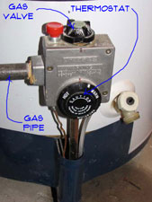 Gas Water Heater Thermostat Gas Water Heaters Water