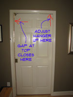 Adjusting Gap at Top of Pocket Door