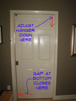 Adjusting Gap at Bottom of Pocket Door